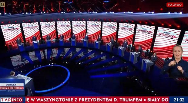 Debata TVP - obraz z ekranu TVP Info